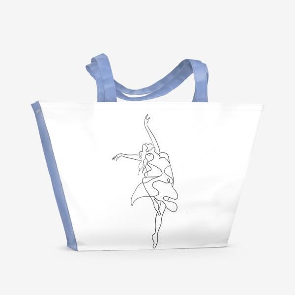 Пляжная сумка «Девушка. Танец»