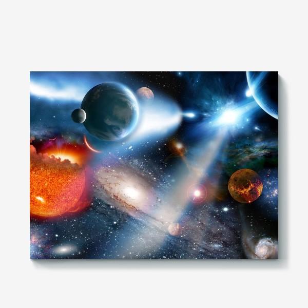 Холст «космическая фантасмагория»
