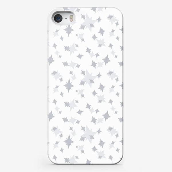 Чехол iPhone «Серебряные звезды. Ночное небо»