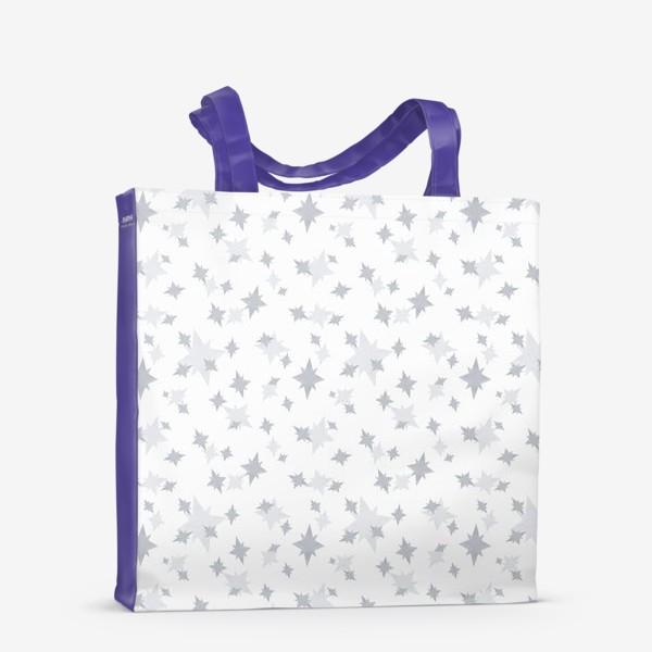 Сумка-шоппер «Серебряные звезды. Ночное небо»