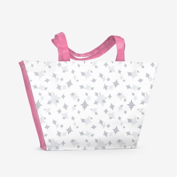 Пляжная сумка «Серебряные звезды. Ночное небо»