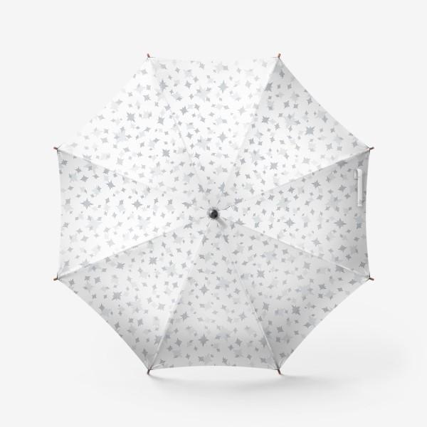 Зонт «Серебряные звезды. Ночное небо»