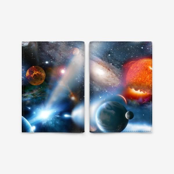 Обложка для паспорта «космическая фантасмагория»