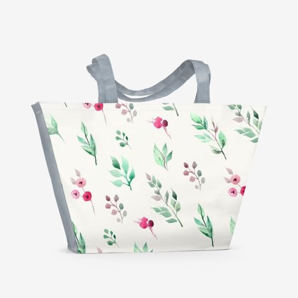 Пляжная сумка «Душистые травы. Нежнсть в стиле прованс.»