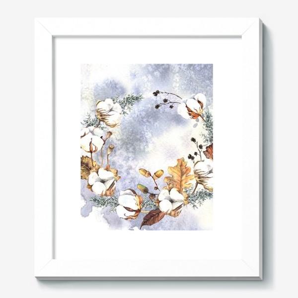 Картина «Нежный венок с зимними растениями»