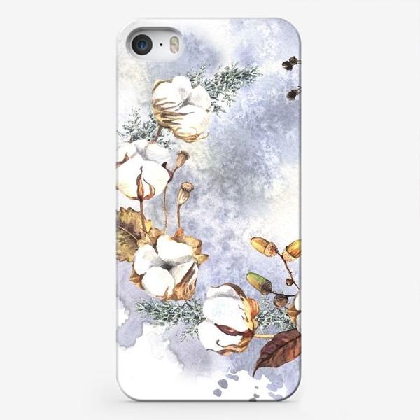 Чехол iPhone «Нежный венок с зимними растениями»