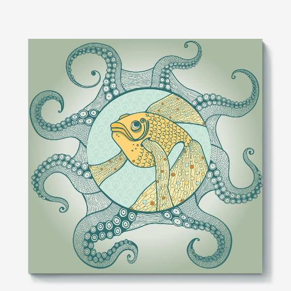 Холст «золотая рыбка»