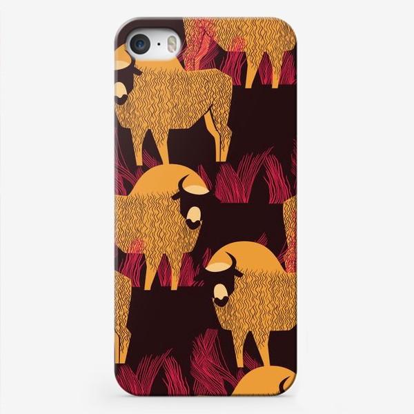 Чехол iPhone «Узор с бизонами»