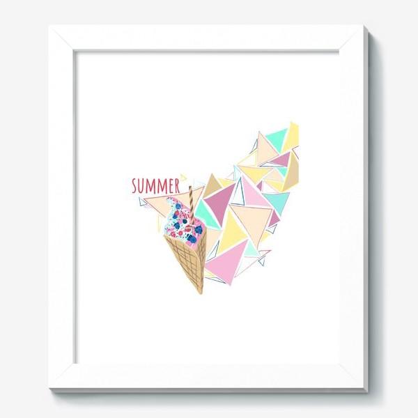 Картина «Мороженое принт лето геометрия»