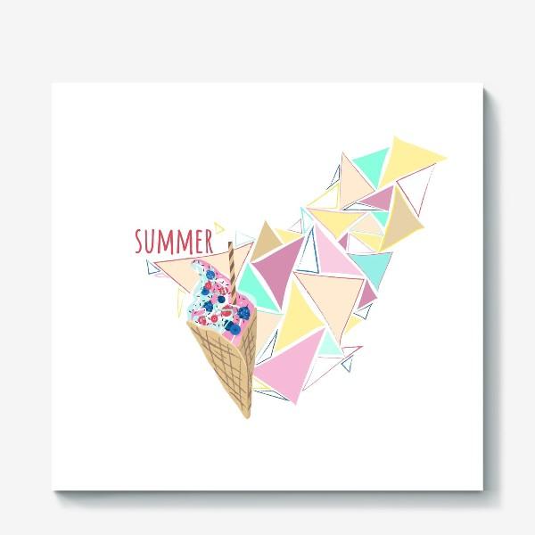 Холст «Мороженое принт лето геометрия»