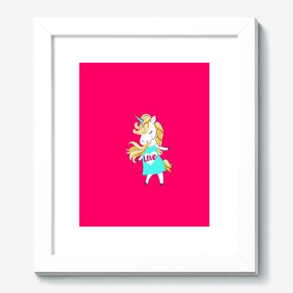 Картина «Единорог девочка принт love unicorn»