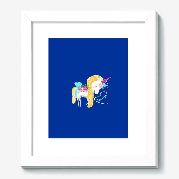 Картина «Единорог unicorn принт цветы»