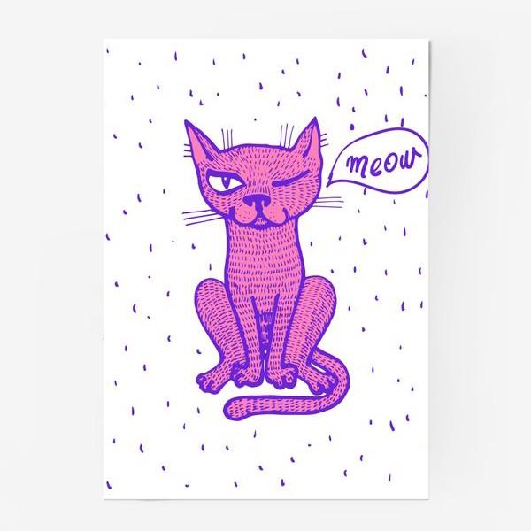 Постер «подмигивающий кот»