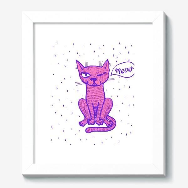 Картина «подмигивающий кот»