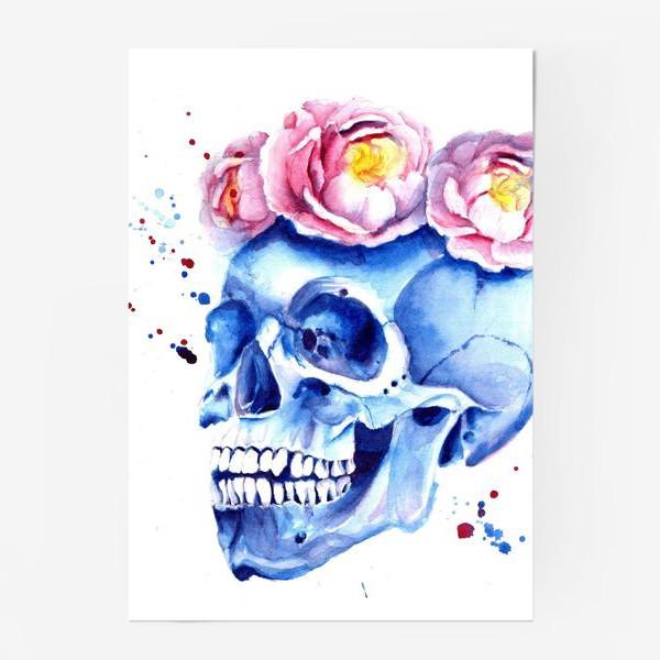Постер «Череп в венке»
