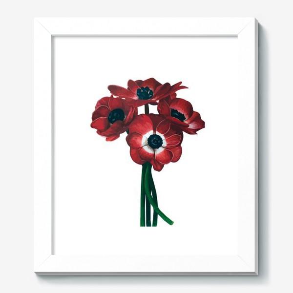 Картина «Красные цветы - Анемоны»