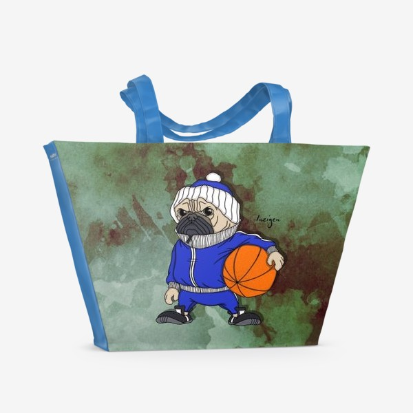 Пляжная сумка «Тренер (мопс)»