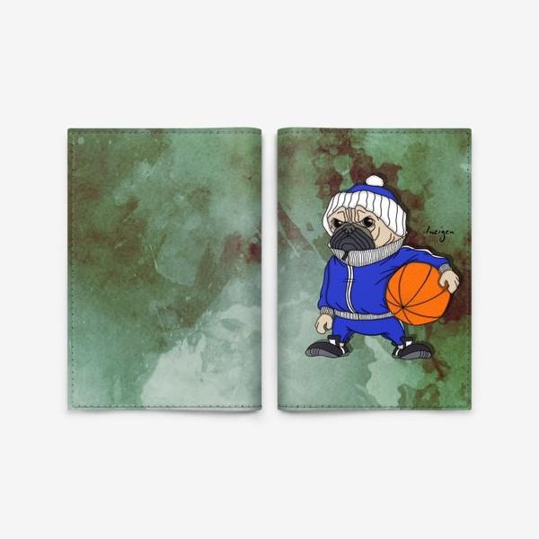 Обложка для паспорта «Тренер (мопс)»