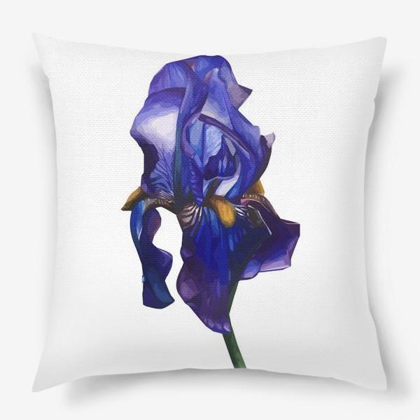 Подушка «Синий Ирис»