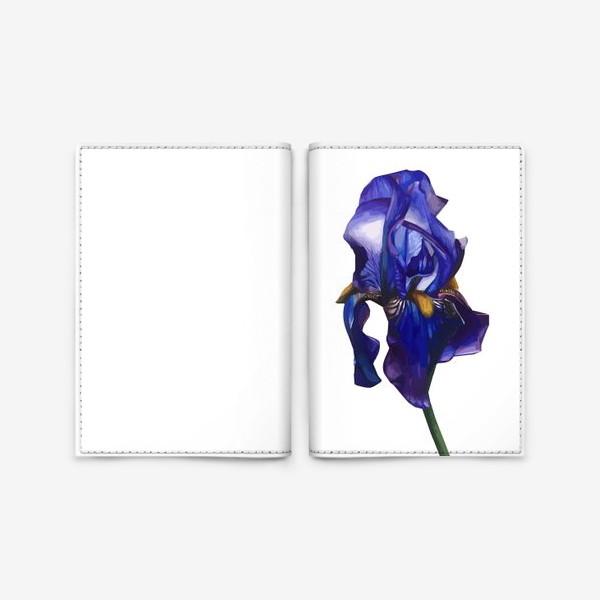 Обложка для паспорта «Синий Ирис»