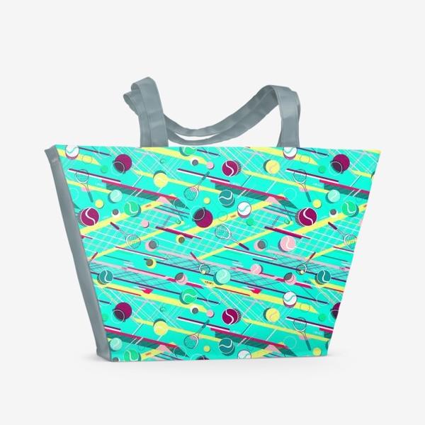Пляжная сумка «Спорт теннис паттерн»