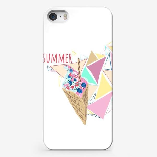 Чехол iPhone «Мороженое принт лето геометрия»