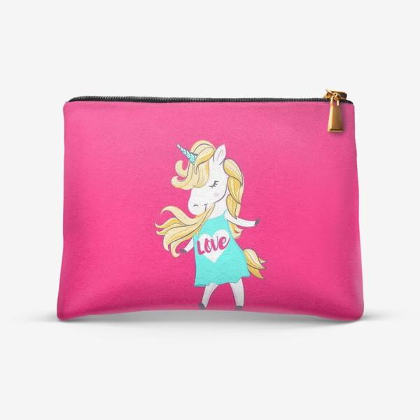 Косметичка «Единорог девочка принт love unicorn»