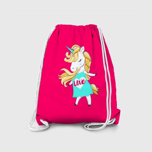 Рюкзак «Единорог девочка принт love unicorn»