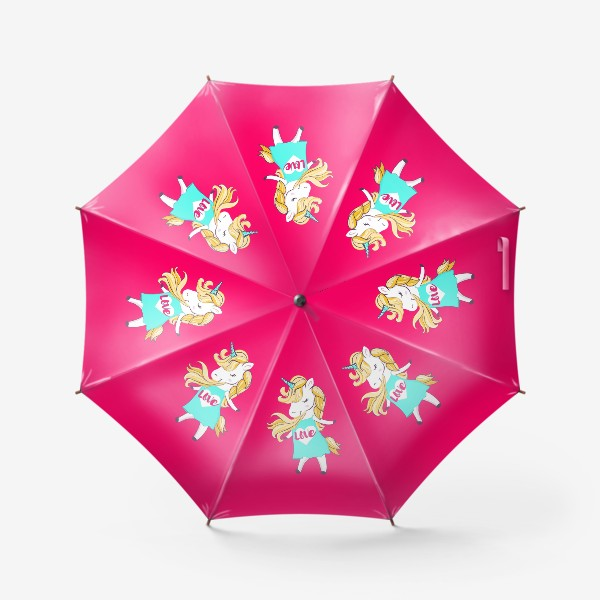 Зонт «Единорог девочка принт love unicorn»