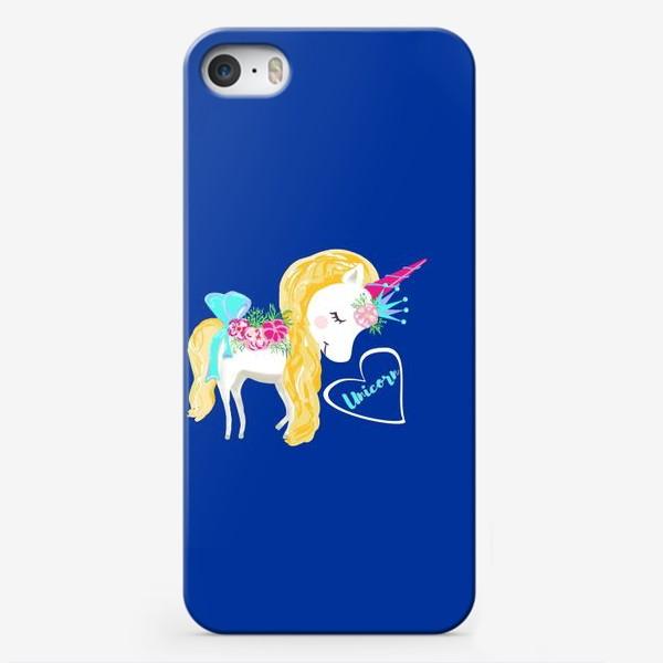 Чехол iPhone «Единорог unicorn принт цветы»