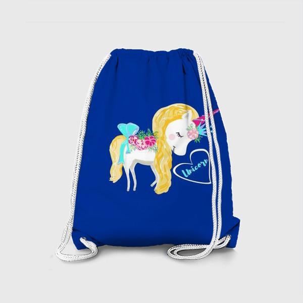 Рюкзак «Единорог unicorn принт цветы»