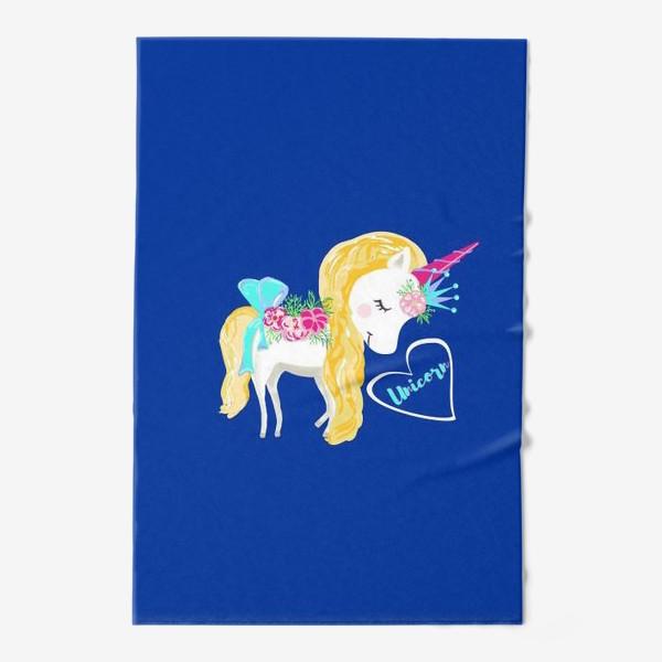 Полотенце «Единорог unicorn принт цветы»