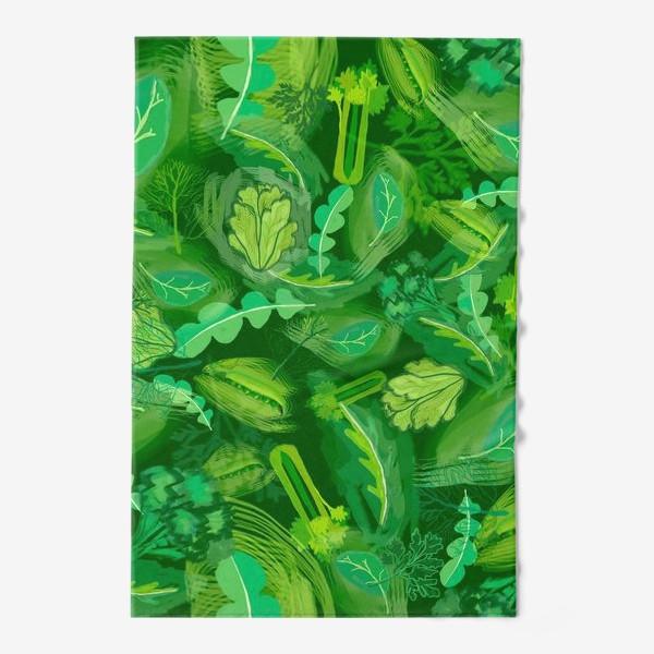 Полотенце «Кухня еда зелень шпинат сельдерей укроп »
