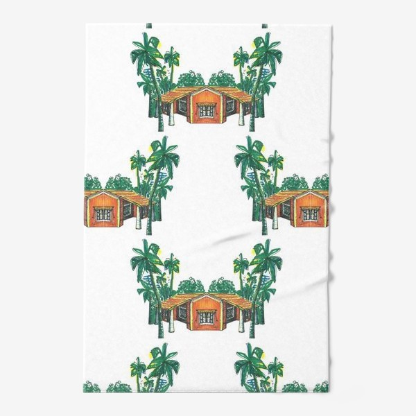 Полотенце «Паттерн дома пальмы рисунок»