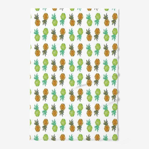 Полотенце «Паттерн Ананасы | Pineapples pattern»