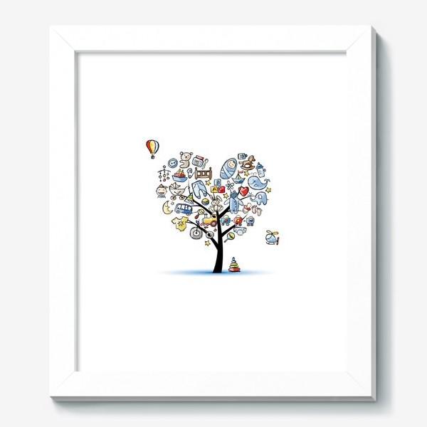Картина «Дерево с игрушками»