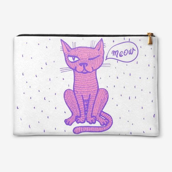 Косметичка «подмигивающий кот»
