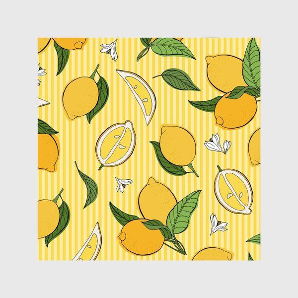 Шторы «Який принт с лимонами»