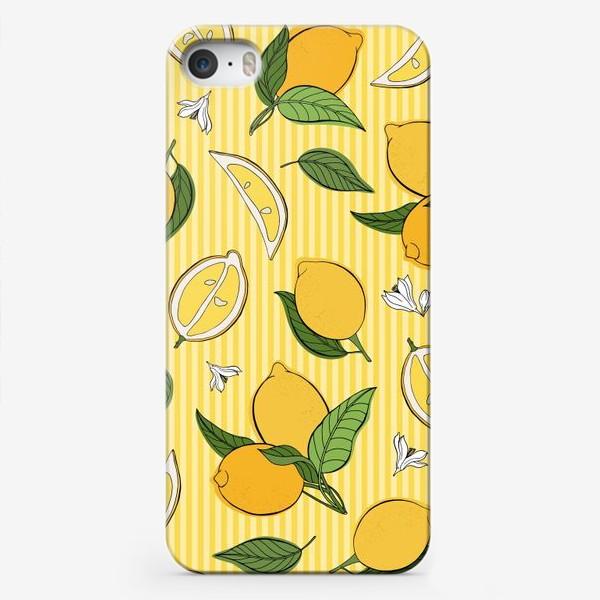 Чехол iPhone «Який принт с лимонами»