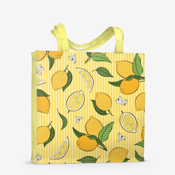 Сумка-шоппер «Який принт с лимонами»