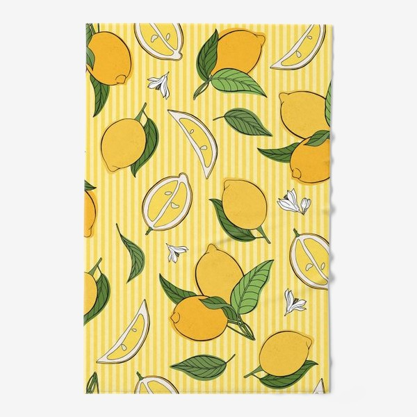 Полотенце «Який принт с лимонами»