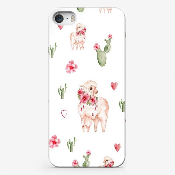 Чехол iPhone «Лама паттерн»