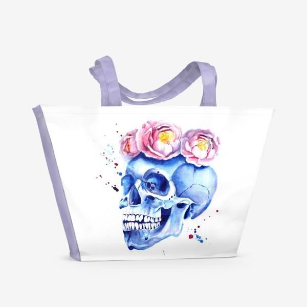 Пляжная сумка «Череп в венке»