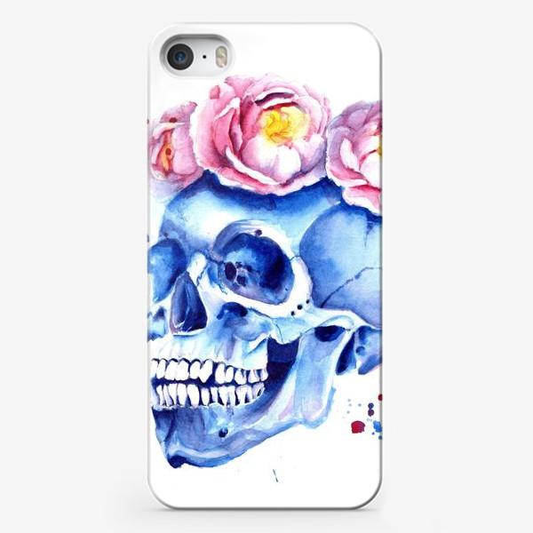 Чехол iPhone «Череп в венке»