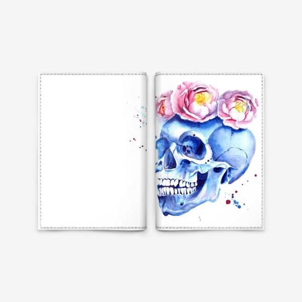 Обложка для паспорта «Череп в венке»
