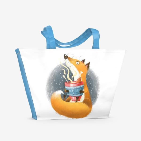 Пляжная сумка «Лис и бульон»