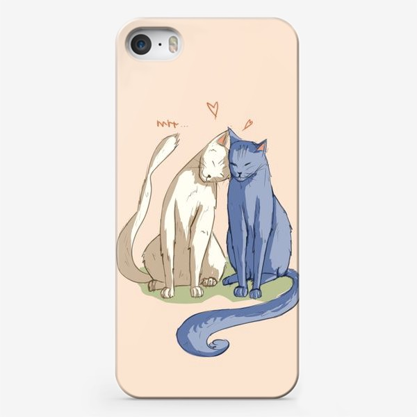 Чехол iPhone «Влюбленные Коты»