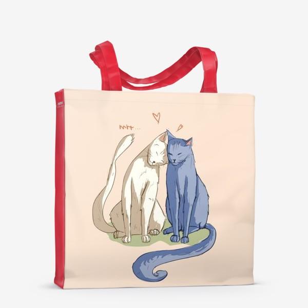 Сумка-шоппер «Влюбленные Коты»