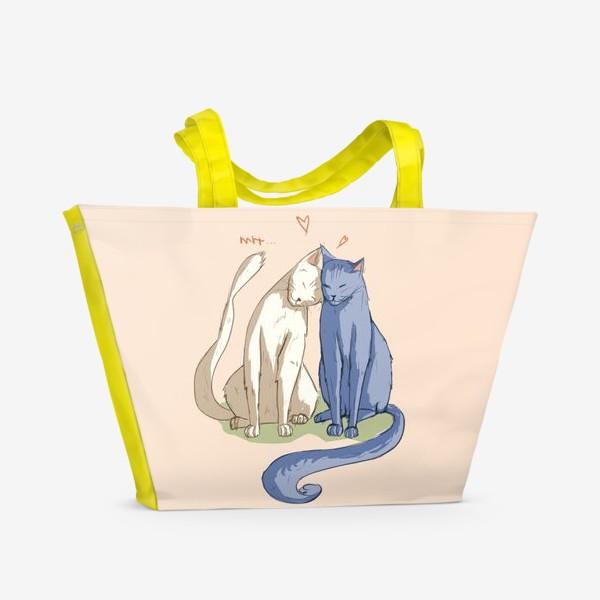 Пляжная сумка «Влюбленные Коты»