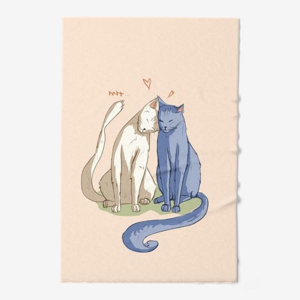 Полотенце «Влюбленные Коты»